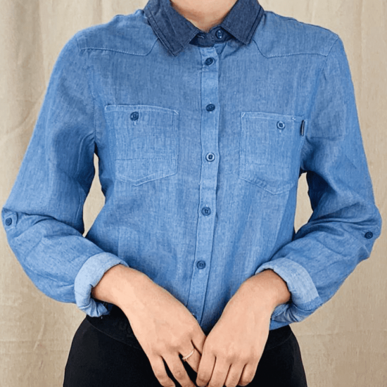 CAMISA JEANS P/MUJER S-XL M/L – LC9-885